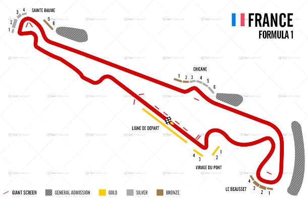 French F1 Grand Prix Ticket and Travel Packages