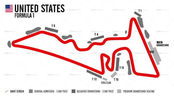 USA F1 Grand Prix Ticket and Travel Packages